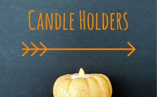 diy pumpkin candle holders, crafts, seasonal holiday decor