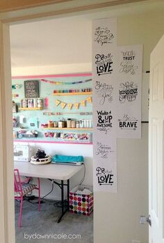 craft room office reveal, craft rooms, diy, home decor, home office, repurposing upcycling
