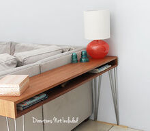 midcentury modern console table, diy, rustic furniture, woodworking projects