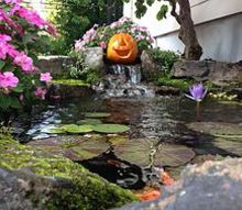 pumpkin face ideas fall decoration outdoor lighting, halloween decorations, landscape, seasonal holiday decor
