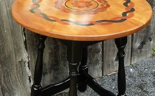 stain painted accent table, diy, painted furniture, painting, rustic furniture