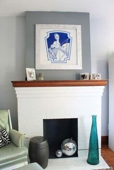 old house modern fireplace makeover, fireplaces mantels, home improvement, living room ideas, painting