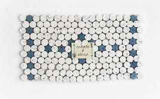 wine cork mosaic pinboard, crafts, organizing, repurposing upcycling, wall decor