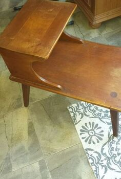 q painted furniture end table ideas wood antique, painted furniture, Side View