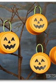 fall decor tin can pumpkins pet food upcycle, crafts, halloween decorations, repurposing upcycling, seasonal holiday decor