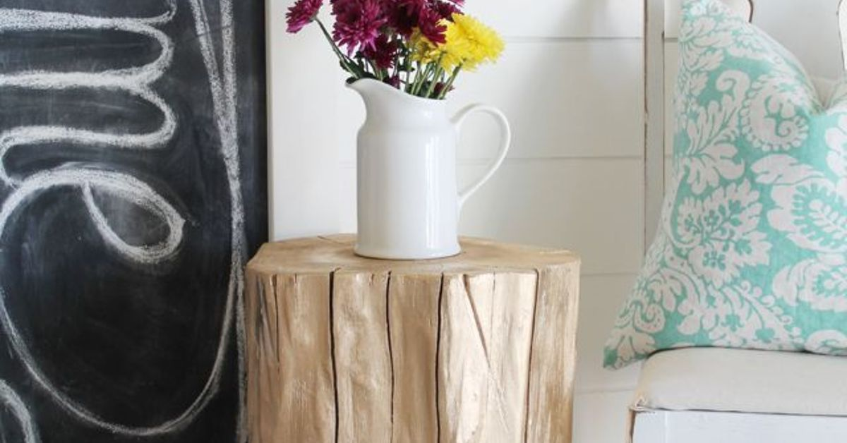 Turn Old Tree Stumps Into Cute Side Tables Hometalk
