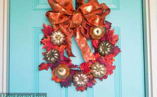 easy fall wreath, crafts, seasonal holiday decor, wreaths