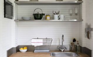 garage turned guest cottage with budget ikea kitchenette, basement ideas, garages, kitchen design