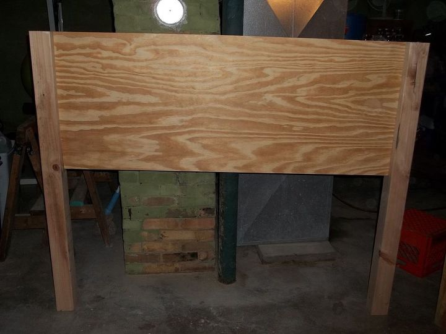 Diy headboard pottery barn inspired hudson queen bed for Diy queen wood headboard