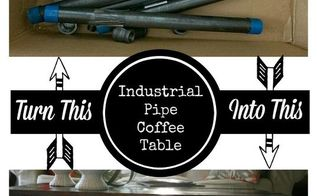 repurposed pipe coffee table industrial decor, diy, repurposing upcycling