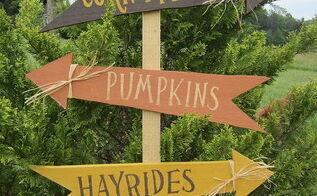 crafts fall yard signs scrap lumber, crafts, seasonal holiday decor