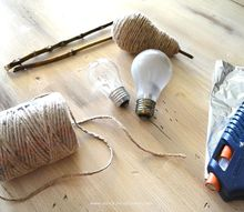 crafts fall decor twine pear lightbulb repurpose, crafts, repurposing upcycling, seasonal holiday decor