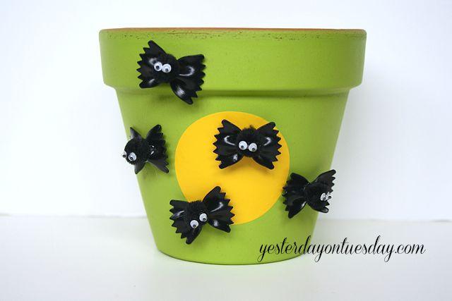 halloween decoration craft bats pasta crafts halloween decorations repurposing upcycling seasonal holiday