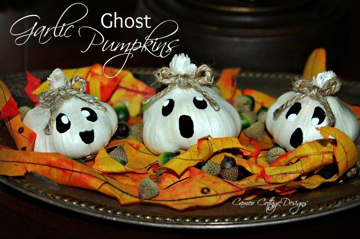 halloween decor craft garlic ghost sweater pumpkin crafts halloween decorations seasonal holiday decor - Decorated Halloween Pumpkins