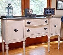 painted furniture wood buffet, painted furniture, shabby chic