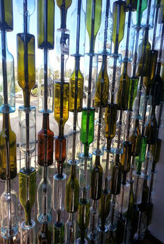 bottle wall build upcycle, how to, patio, repurposing upcycling, wall decor