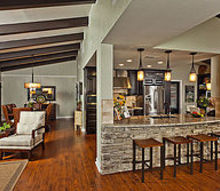 kitchen living room remodel stone, appliances, architecture, countertops, flooring, kitchen design, living room ideas