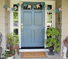 non fall house tour summer backyard decor, doors, fireplaces mantels, home decor, outdoor living