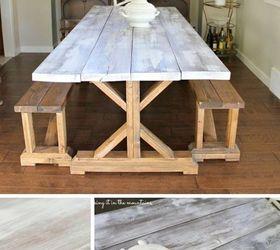 Whitewash Wood Pottery Barn Table  Hometalk