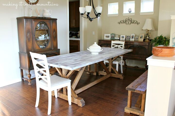 Whitewash Wood Pottery Barn Table  Hometalk