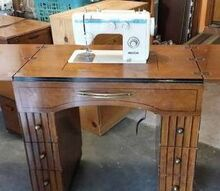 q sewing table antique upcycle redo ideas, painted furniture, repurposing upcycling