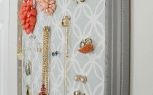 jewelry organizer old picture frame upcycle, organizing, repurposing upcycling, wall decor
