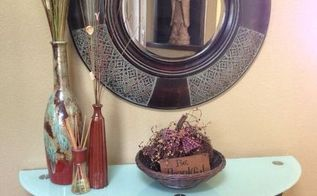 painted glass valspar entryway table makeover, foyer, home decor, painted furniture