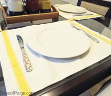 diy no sew placemats, crafts, reupholster