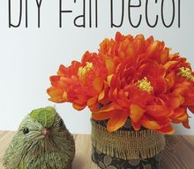 fall vase decor easy, crafts, seasonal holiday decor