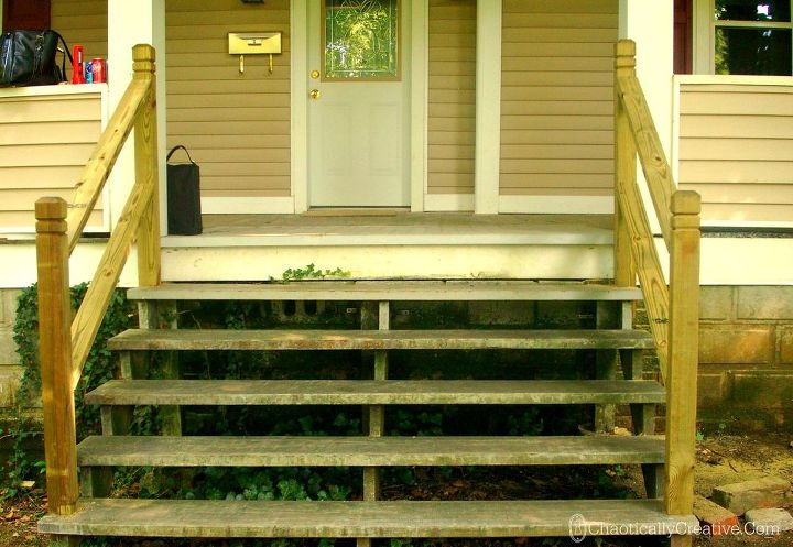 front porch stairs paint stencil redo diy outdoor living painting