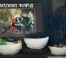 halloween decoations mummy bowls craft, halloween decorations, seasonal holiday decor