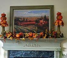 fall decor mantel fireplace leaves pumpkins hobby lobby, fireplaces mantels, seasonal holiday decor