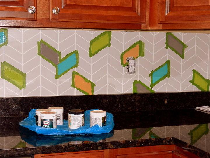 Kitchen Backsplash Colorful Painted Diy Kitchen Backsplash Kitchen Design
