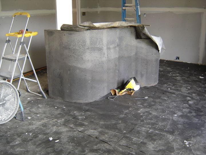 DIY Concrete Kitchen Island | Hometalk