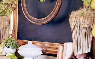 fall mantel green white wheat chalkboard, crafts, fireplaces mantels, home decor, seasonal holiday decor