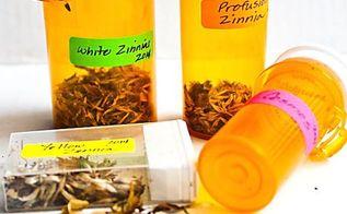 gardening seed containers prescription bottle repurpose, gardening