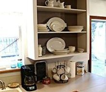 kitchen cupboard to open shelving, kitchen cabinets, kitchen design, shelving ideas