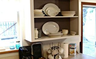 kitchen cupboard to open shelving, kitchen cabinets, kitchen design, shelving ideas