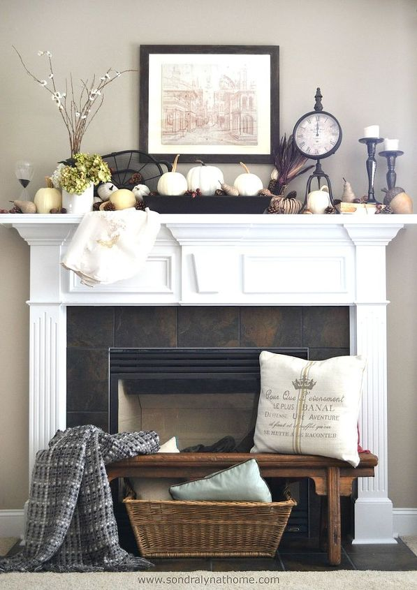 fireplace mantel decor fall front ideas  fireplaces mantels  home decor   seasonal holiday decor. Decorate For Fall in Front of Your Fireplace   Hometalk