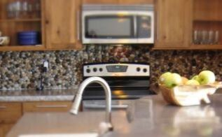 simple backsplash idea, diy, kitchen backsplash, kitchen design, repurposing upcycling