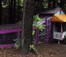 chicken coop pump house designer upcycle, homesteading, outdoor living, pets animals, Full view of coop and run area