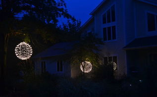 lights outdoor orbs hanging building tutorial, crafts, lighting, repurposing upcycling