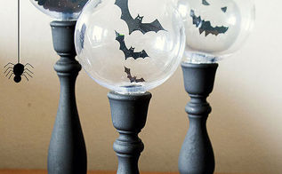 not so scary 19k views halloween decorations crystal ball candlesticks halloween decorations seasonal holiday decor annette belnap