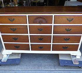 classy white and cherry dresser chalk paint painted furniture