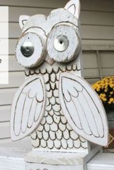 reclaimed wood owl, crafts, repurposing upcycling, woodworking projects