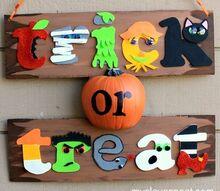 kid friendly halloween sign, crafts, halloween decorations, seasonal holiday decor