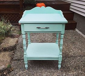 Painted Furniture End Table Mint Makeover, Diy, Painted Furniture,  Repurposing Upcycling, Shabby