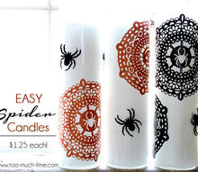 easy and cheap halloween candles, crafts, halloween decorations, seasonal holiday decor