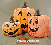 halloween decorations canvas painted pumpkins, crafts, seasonal holiday decor