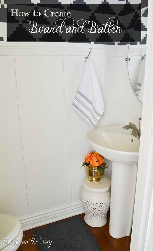 How to create board and batten the easy way hometalk - How to design a small bathroom easily ...